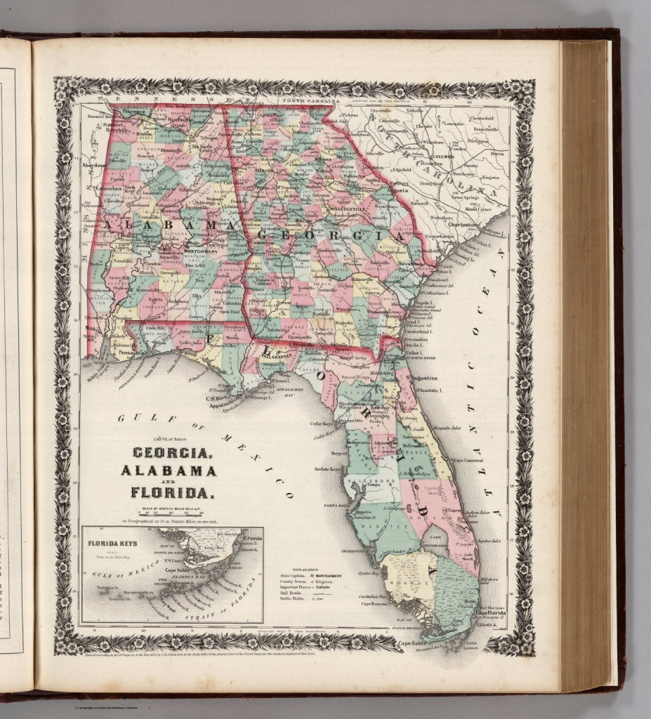 Georgia, Alabama, And Florida. - David Rumsey Historical Map Collection - Map Of Georgia And Florida