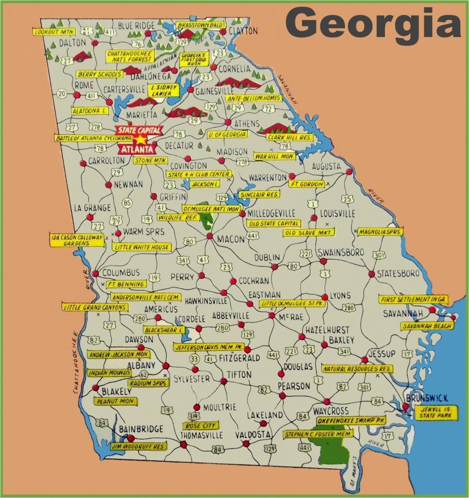 Georgia County Map Printable Georgia State Maps Usa Maps Of Georgia - Georgia State Map Printable