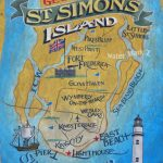 Georgia On My Mindst. Simon's Island Map Print, Golden Isle, Map   Printable Map Of St Simons Island Ga