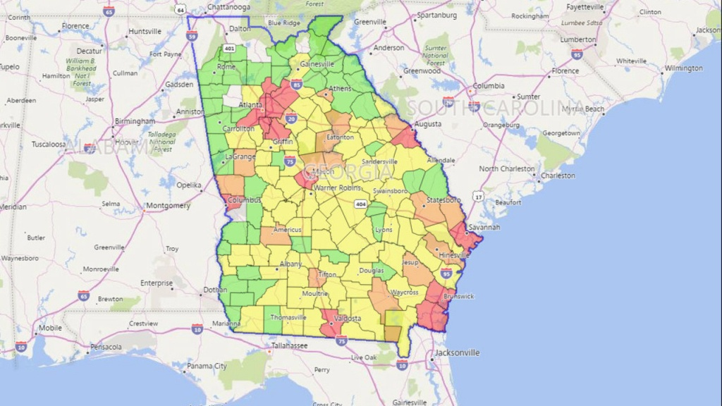 Georgia Power Outages: Latest Updates From Georgia Power After - Florida Power Outage Map