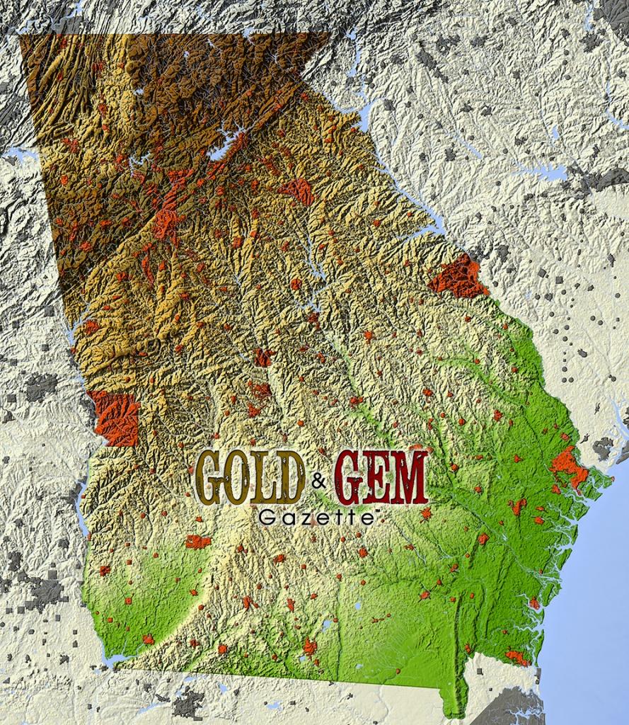 Georgia Prospecting – Gold And Gem Gazette Magazine - California Gold Prospecting Map