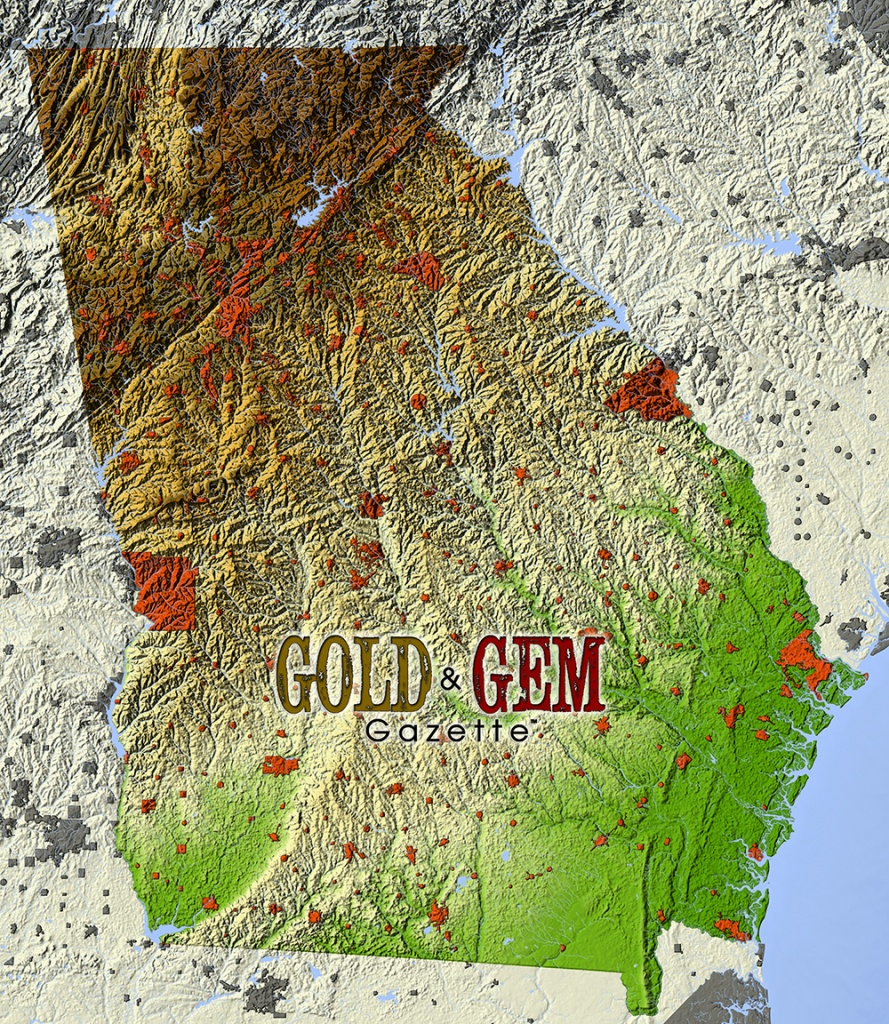 Georgia Prospecting – Gold And Gem Gazette Magazine - Gold Prospecting In Texas Map