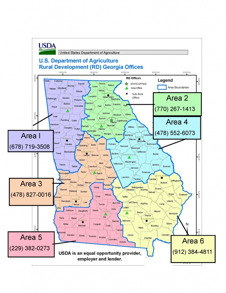 Georgia   Usda Rural Development - Usda Eligibility Map California