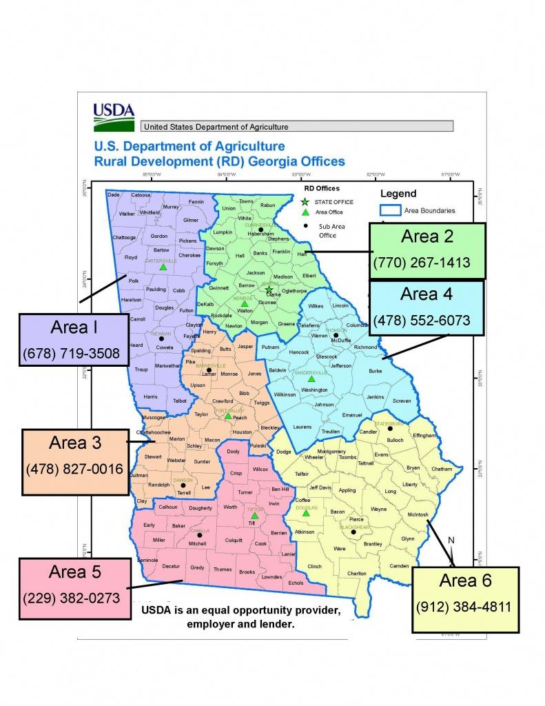Georgia | Usda Rural Development - Usda Property Eligibility Map Texas