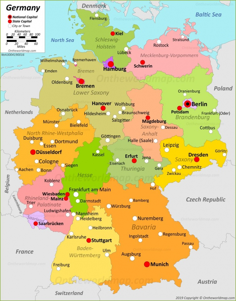 Germany Maps | Maps Of Germany - Large Printable Map Of Germany