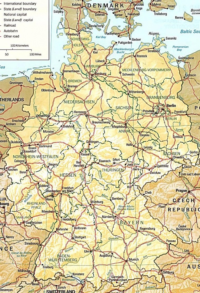 Germany Maps | Printable Maps Of Germany For Download - Large Printable Map Of Germany