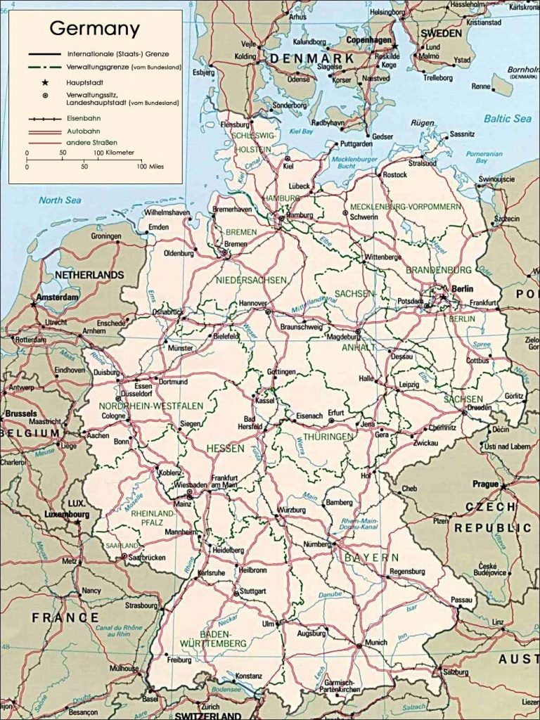 Germany Maps | Printable Maps Of Germany For Download - Printable Map Of Germany