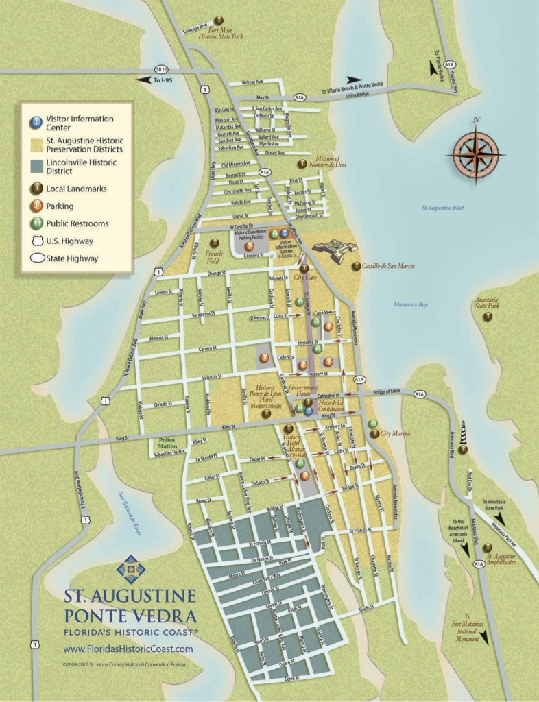 Get To Know Downtown St. Augustine With Our Printable Maps!   St - Map Of Hotels In St Augustine Florida