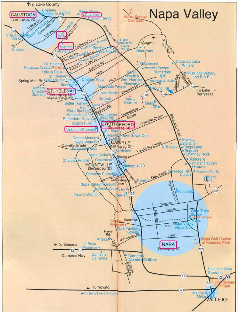 Getaway From It All: Napa Valley | Napalicious's Blog | Napa Valley - Printable Napa Winery Map