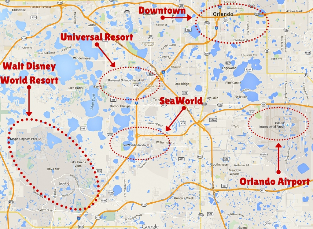 Getting Around The Orlando Theme Parks - The Trusted Traveller - Map Of Amusement Parks In Florida