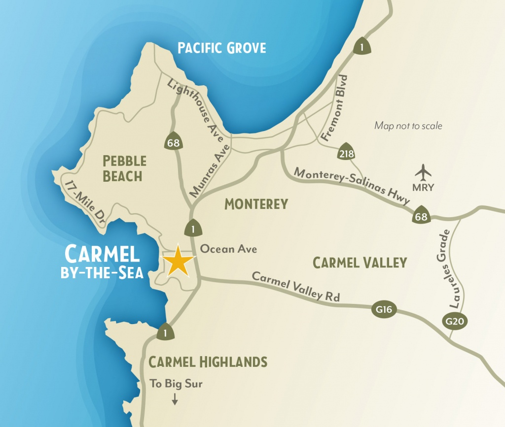 Getting To & Around Carmel-By-The-Sea, California - 17 Mile Drive California Map