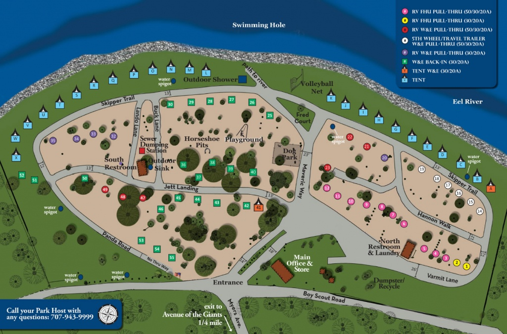 Giant Redwoods Rv Camp | Giant Redwoods Rv Camp - California Rv Campgrounds Map