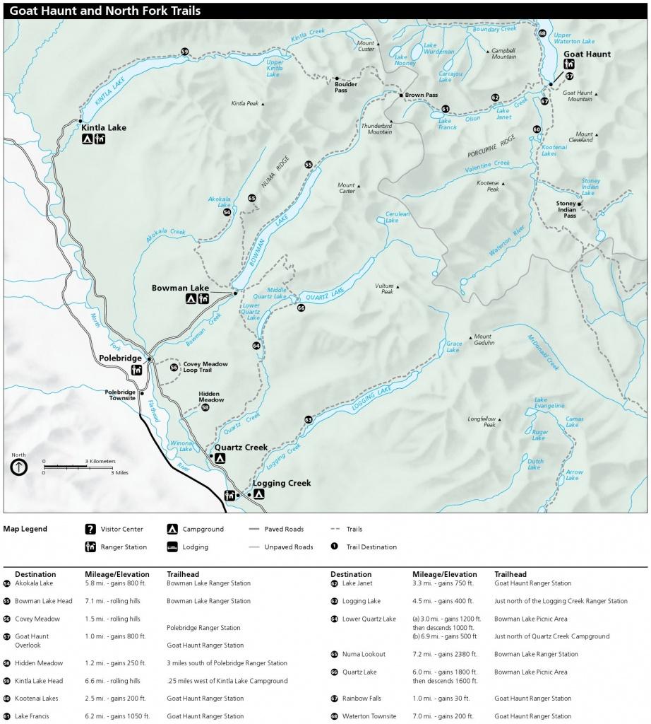 Glacier Maps | Npmaps - Just Free Maps, Period. - Printable Map Of Glacier National Park