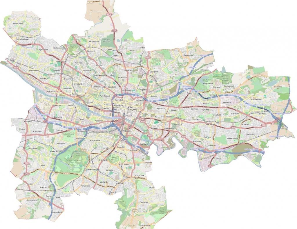 Glasgow City Council Map - Glasgow City Council Boundary Map - Glasgow City Map Printable