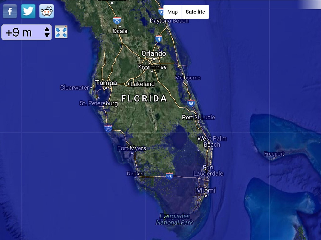 Global Sea Levels May Rise More Than Two Metres2100 | The - Florida Map After Global Warming