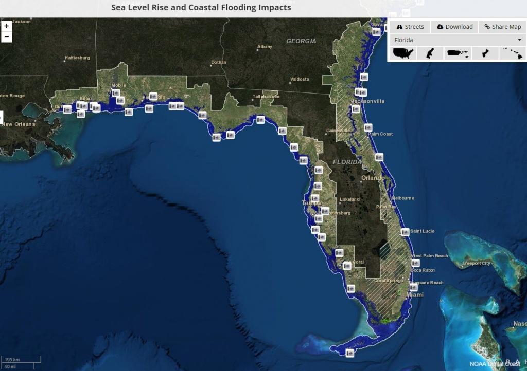 Global Warming Florida Map | Map North East - Florida Water Rising Map