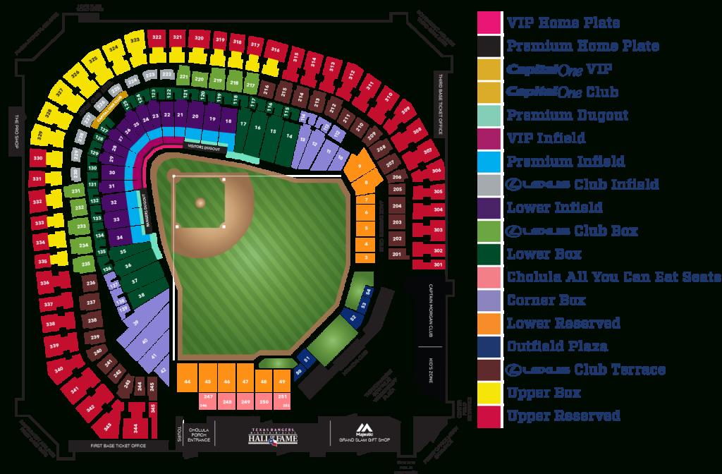 Globe Life Park Seating Map ~ Afp Cv - Texas Rangers Map