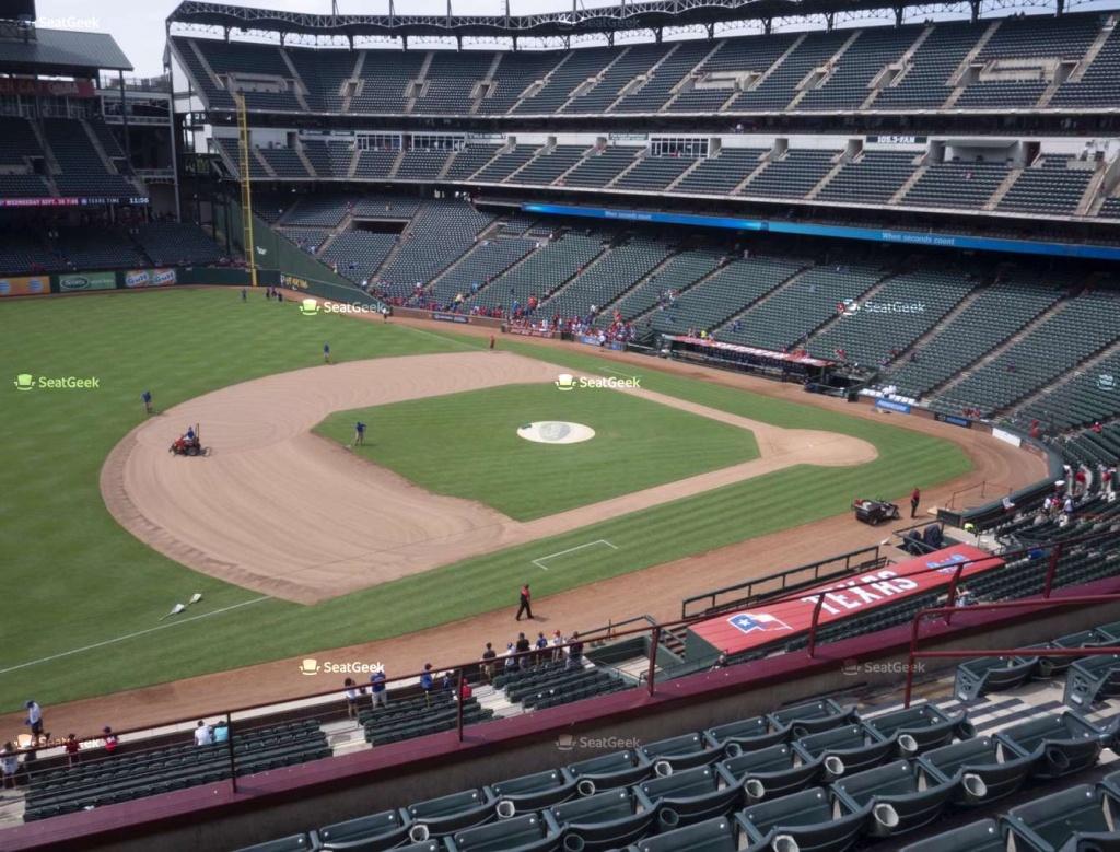 Globe Life Park Section 216 Seat Views | Seatgeek - Texas Rangers Stadium Seating Map