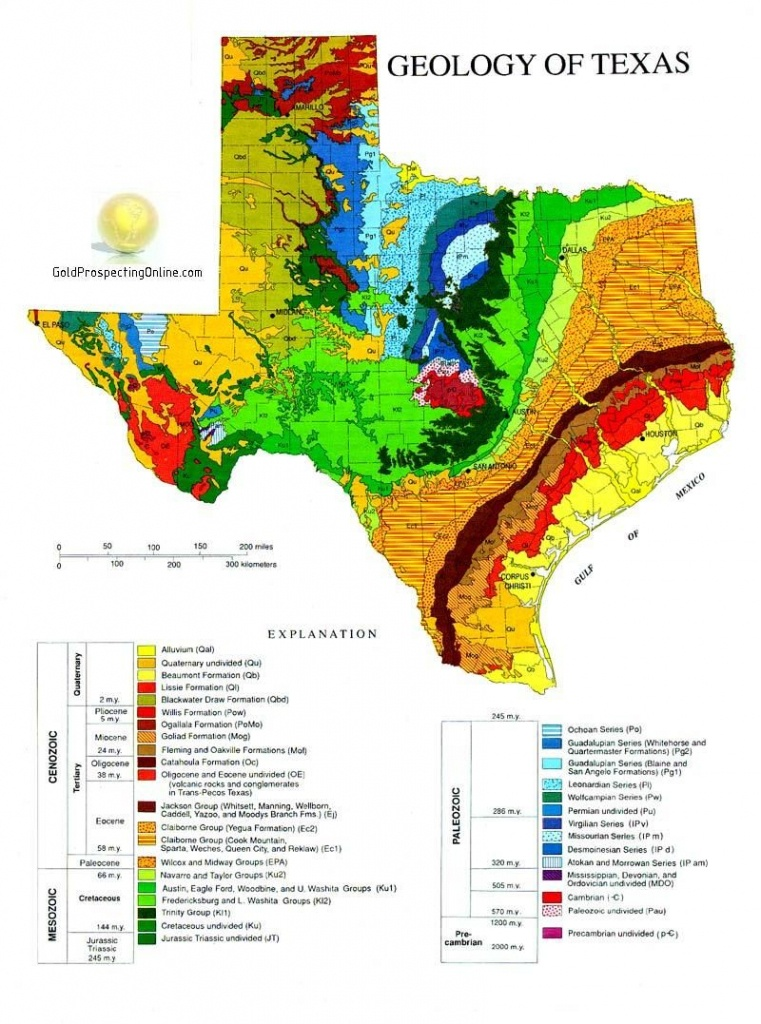 Gold Panning In Texas | L In 2019 | Geology, Texas Gold, Texas History - Gold Prospecting In Texas Map