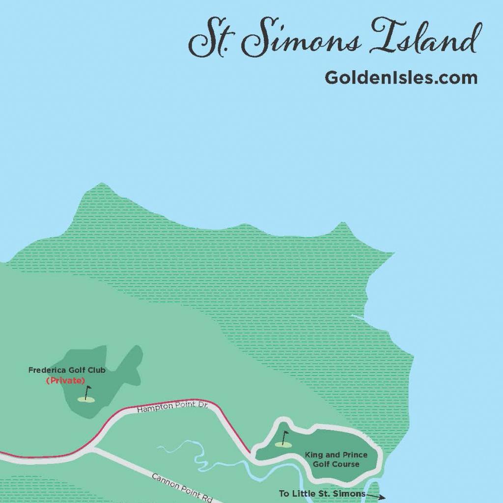 Golden Isles Maps | Golden Isles, Georgia - Printable Map Of St Simons Island Ga