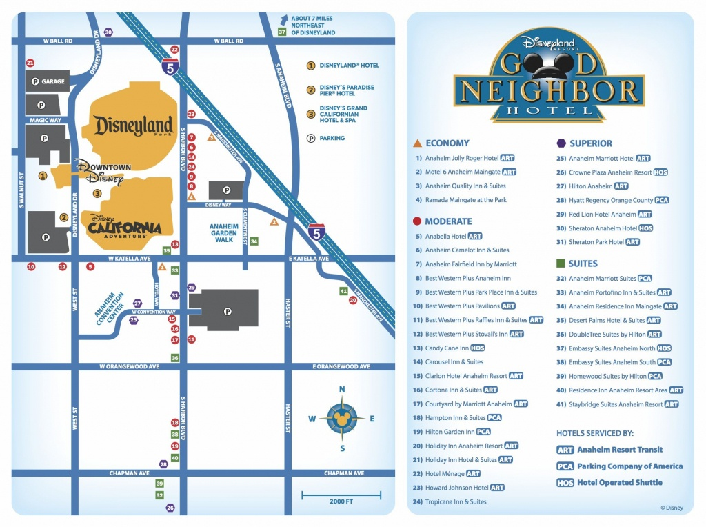 Good Neighbor Hotels Map | Disneyland Resort/hotel Maps-Great For - California Hotel Map