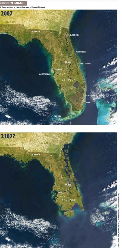 Goodbye, Southern Florida | Later On - Florida Map After Global Warming