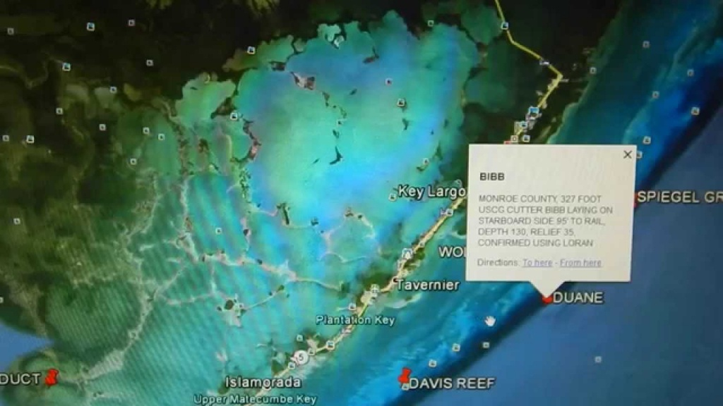 Google Earth Fishing - Florida Keys Reef Overview - Youtube - Florida Reef Maps App