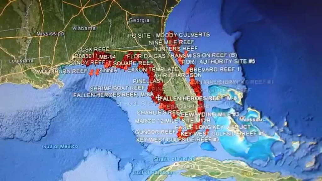 Google Earth Fishing - Florida Reefs - Youtube - Florida Reef Maps App