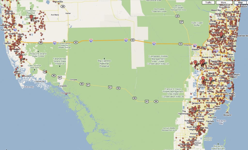 Google Map Florida Usa And Travel Information | Download Free Google - Maps Google Florida Usa