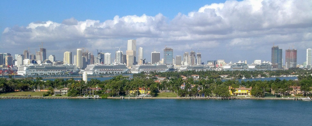 Google Map Of Miami, Florida, Usa - Nations Online Project - Street Map Of Miami Florida