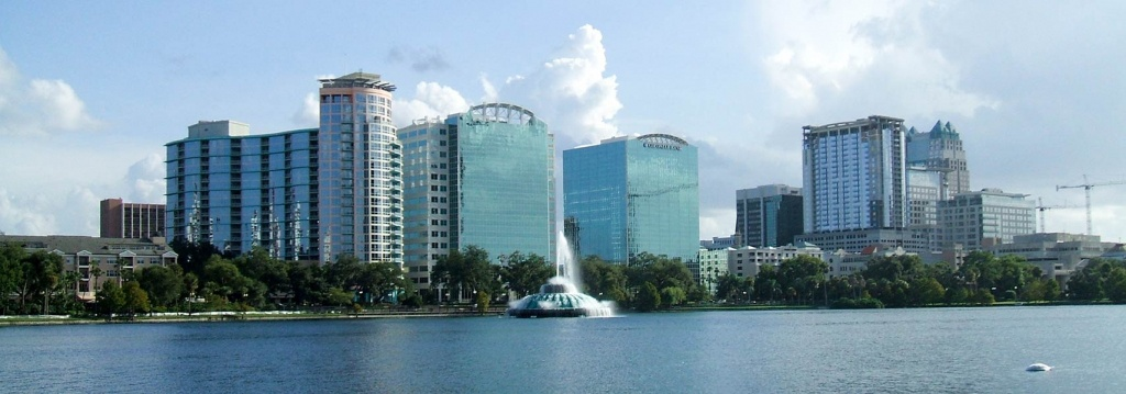 Google Map Of Orlando, Florida, Usa - Nations Online Project - Google Maps Orlando Florida