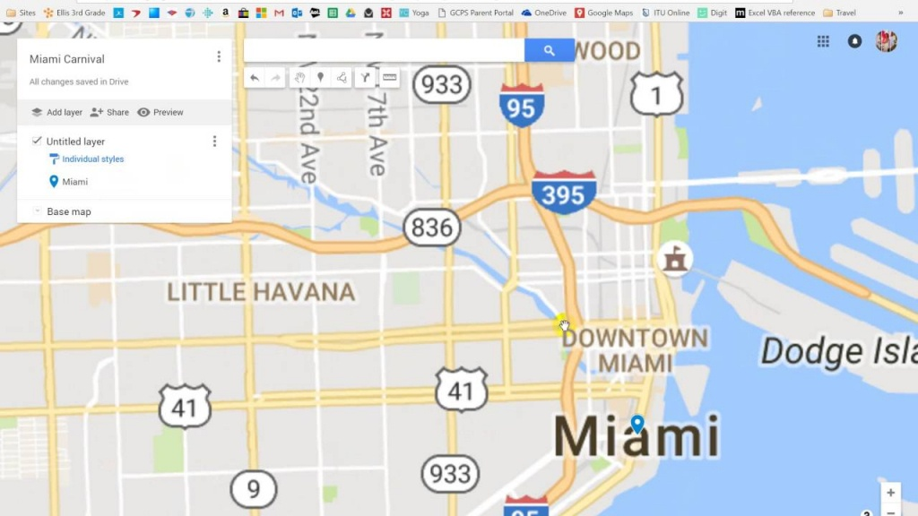 Google Maps Miami Carnival Tutorial - Youtube - Google Map Miami Florida