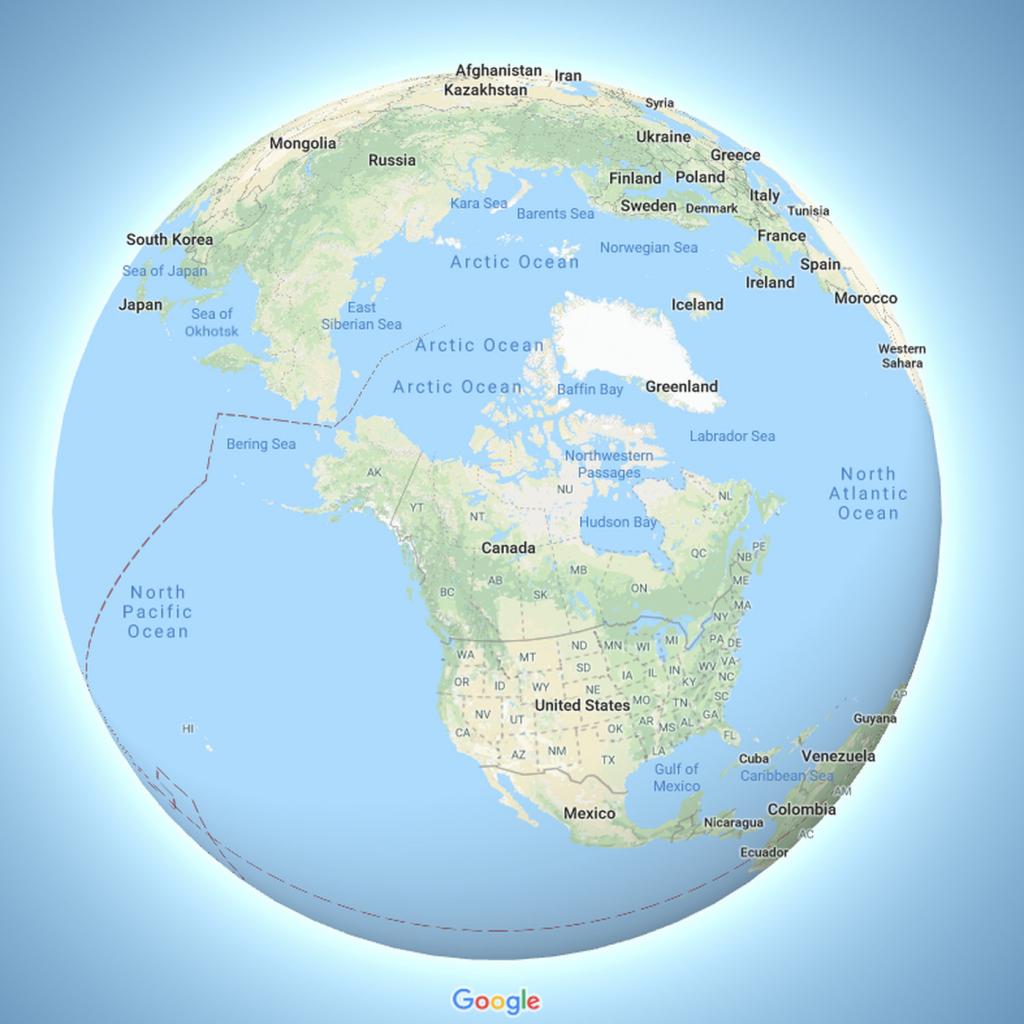 Google Maps Now Depicts The Earth As A Globe - The Verge - Google Maps Santa Cruz California