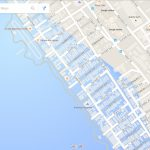 Google Maps Now Showing Southern California Coastal Cities Drowned   California Sea Level Rise Map