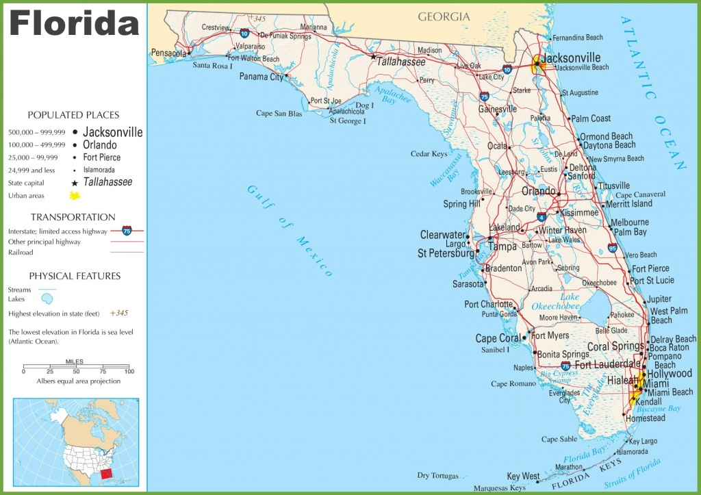 Google Maps Of Florida And Travel Information | Download Free Google - Google Maps South Beach Florida