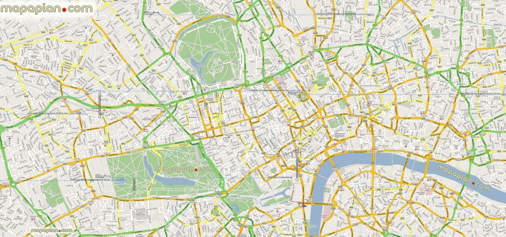 Google Maps Offline Mashup Prints London Top Tourist Attractions Map - Google Printable Maps