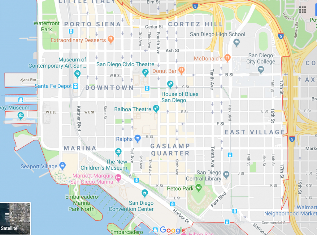 Google Maps San Diego, California - - Google Maps San Diego California
