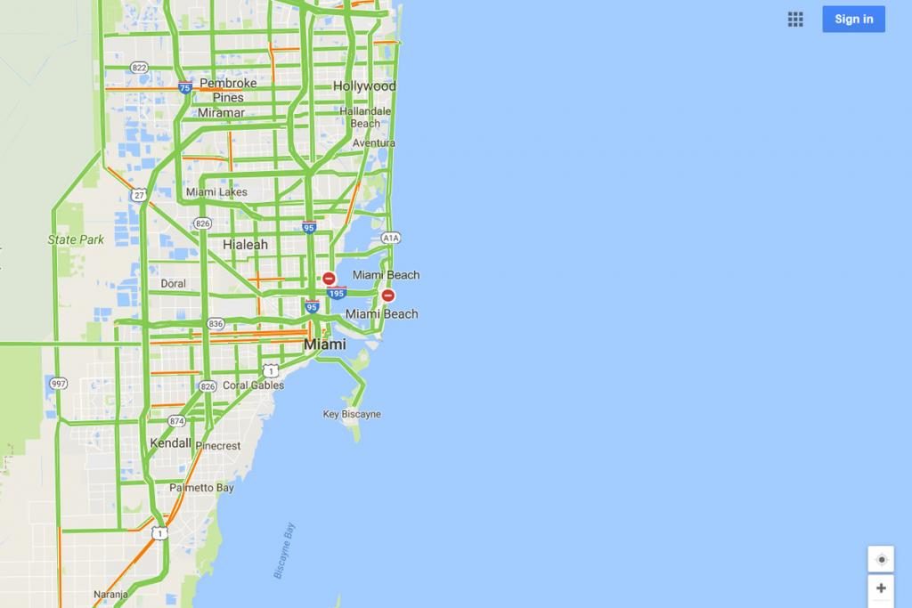 Google Maps Will Mark Closed Roads Live As Hurricane Irma Hits - Google Maps South Beach Florida