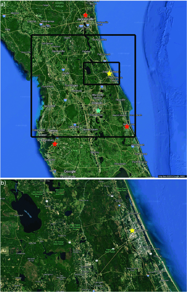 Google Terrain Maps Of Central Florida (Google Maps 2016) For (A - Google Maps Clearwater Florida