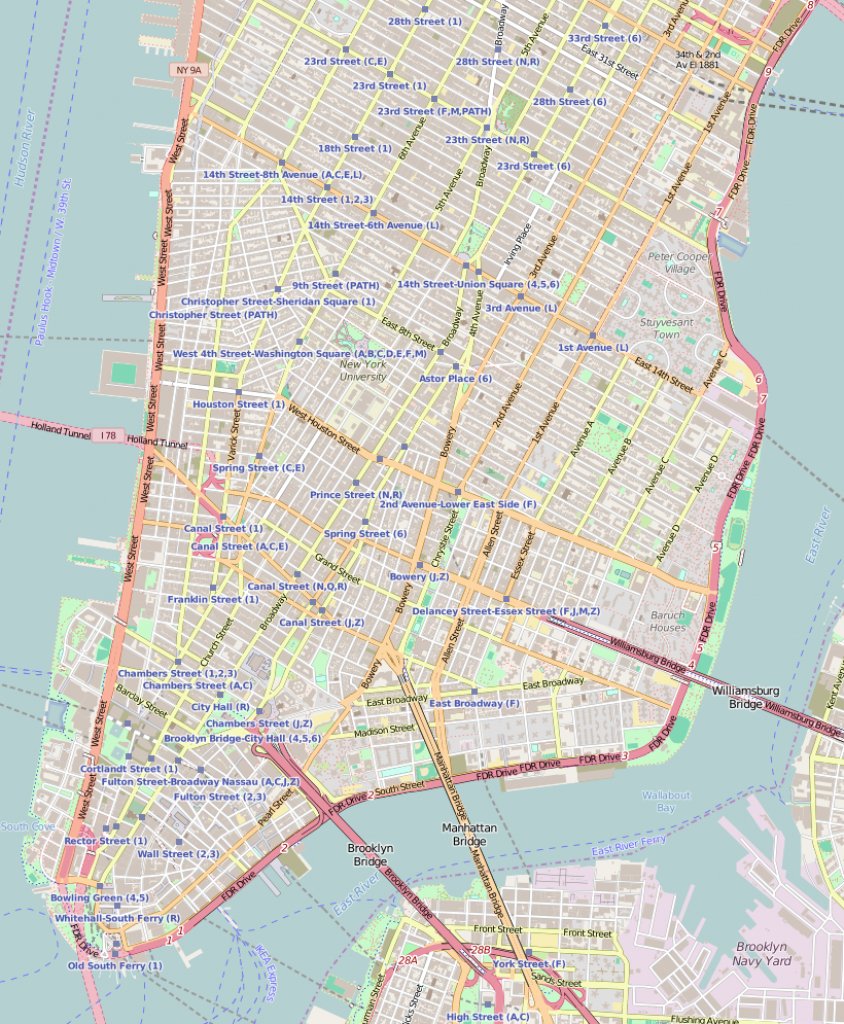 Grace Church (Manhattan) - Wikipedia - Printable Map Of Lower Manhattan Streets