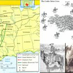 Grade 7 History, Literature, & Logic: Cattle Trails Analysis + - Texas Cattle Trails Map
