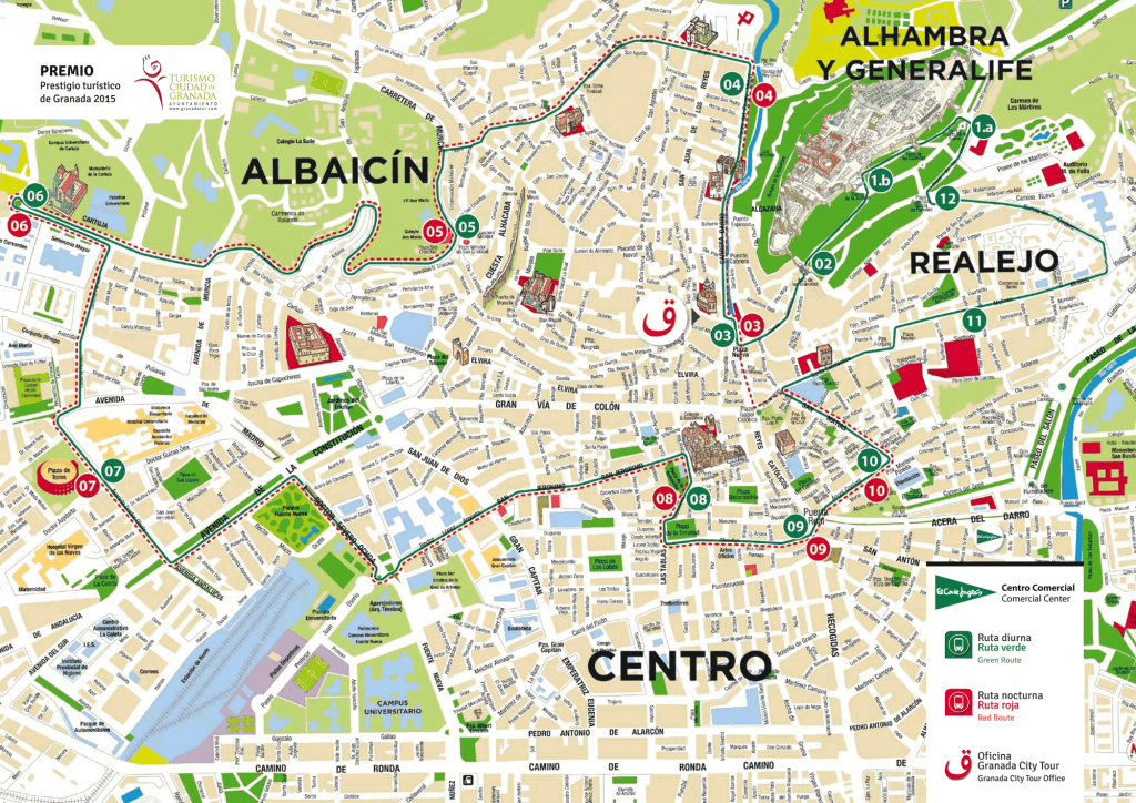 Granada Tourist Train - Guide Of Alhambra And Albaycin City Tour - Printable Street Map Of Granada Spain