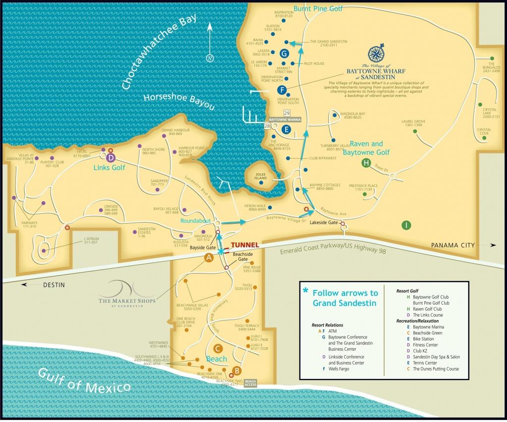 Grand Resort : Sandestin Resort Luau Map - Sandestin Florida Map