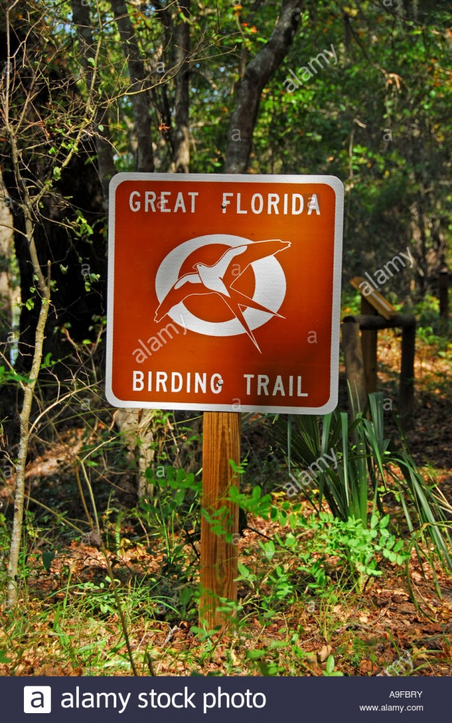 Great Florida Birding Trail Sign Stock Photos & Great Florida - Great Florida Birding Trail Map