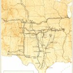 Great Western Cattle Trail - Wikipedia - Texas Cattle Trails Map