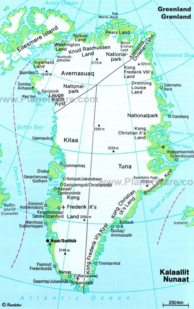Greenland Maps | Maps Of Greenland - Printable Map Of Greenland