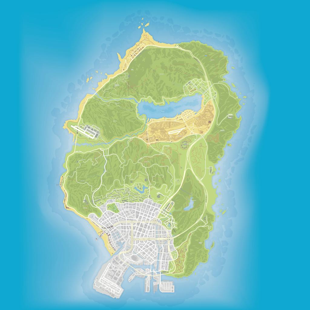 Gta V Maps [Quad-Ultra High Definition 8K Quality] - Bragitoff - Gta 5 Map Printable