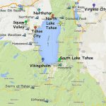 Guide To Planning A Lake Tahoe California Vacation   South Lake Tahoe California Map