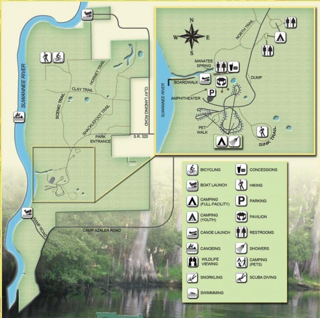 Guide To Springs In North Florida - Map Of All Springs In Florida