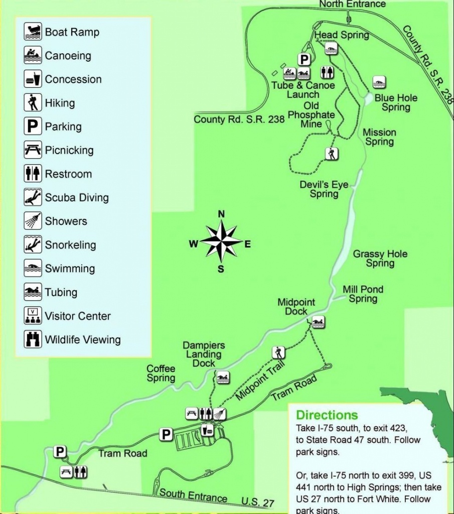 Guide To Springs In North Florida - Map Of Natural Springs In Florida
